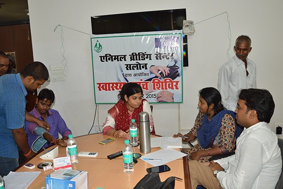 Health Checkup Camp Organised for ABC Salon